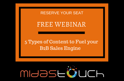 Free Webinar - 5 Types of Content to Fuel your B2B Sales Engine