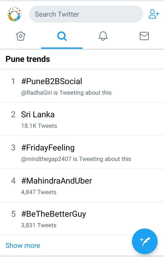 PuneB2BSocial Twitter Trending
